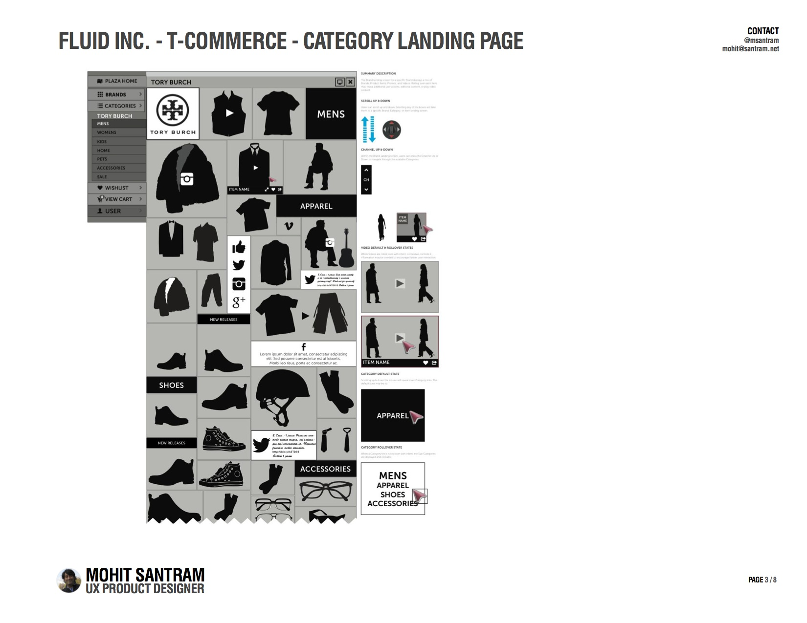 T-Commerce Category Landing Page