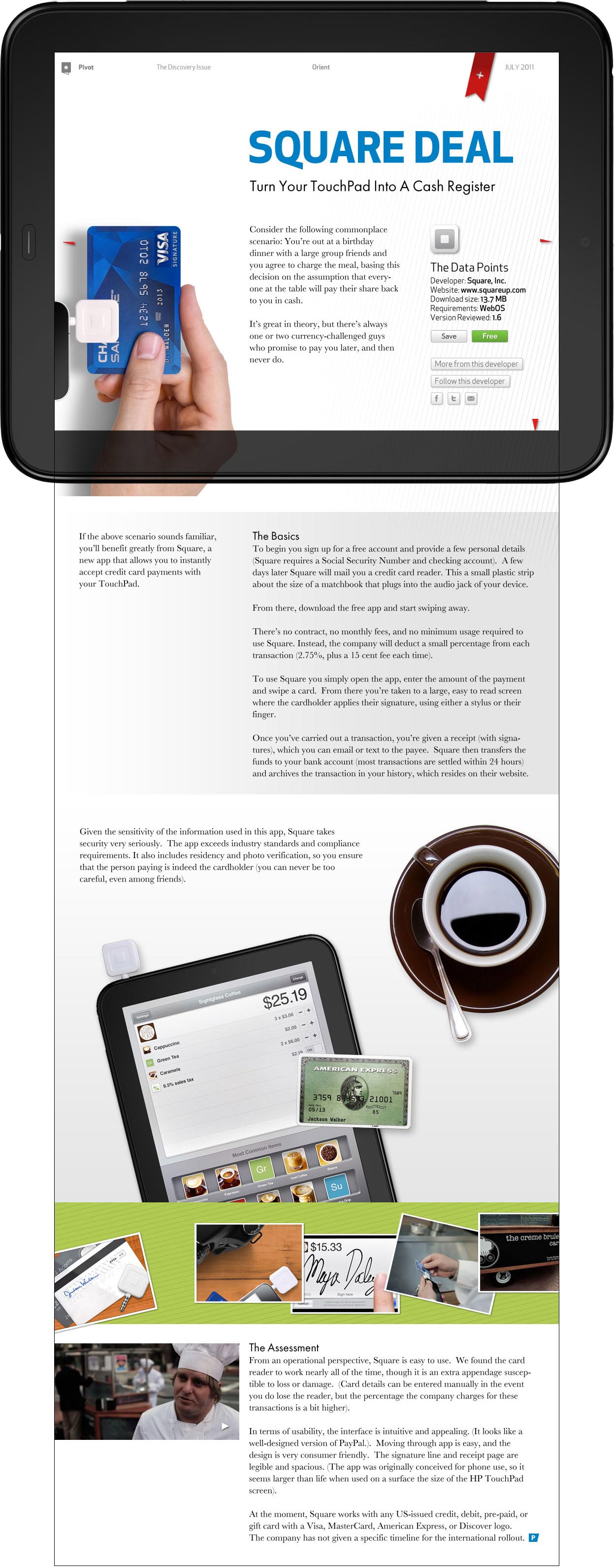 Pivot: The HP TouchPad App Catalog Magazine