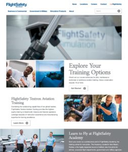 FlightSafety.com - Redesigned Homepage