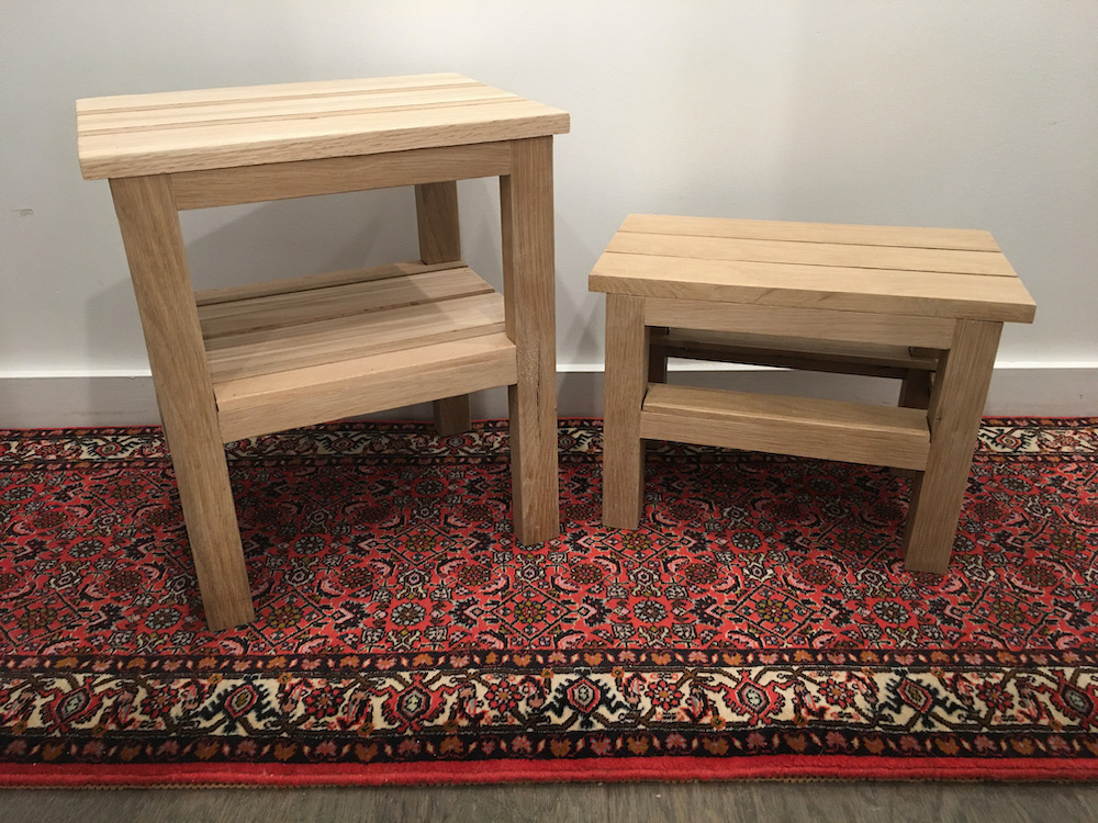 Red & White Oak Stools